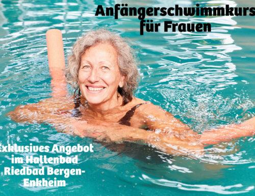 Anfängerschwimmen für Frauen im Riedbad Bergen-Enkheim