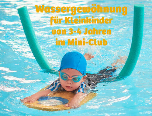 Wassergewöhnung im Mini-Club für Kids von 3-4 Jahren